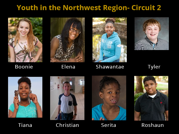 Youth in the Northwest Region- Circuit 2 waiting for a forever family and home to call their own